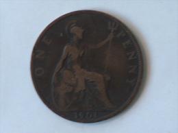 Grande-Bretagne 1 Penny 1901 - 1816-1901 : Frappes XIX° S.