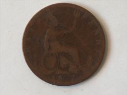 Grande-Bretagne 1/2 Half Penny 1877 - 1816-1901 : Frappes XIX° S.