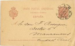 9058. Entero Postal MADRID 1898 A Ciudad Real - 1850-1931