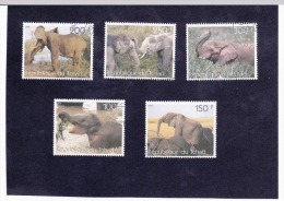 SERIE TIMBRES TCHAD 1998 ELEPHANTS - Olifanten