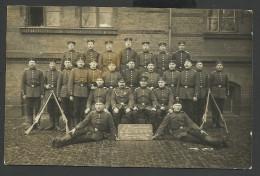 14-18 CARTE PHOTO MILITAIRE - SOLDATS - CACHET POSTAL OLDENBURG ALLEMAGNE - Weltkrieg 1914-18