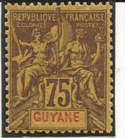 GUYANE - N° 41 - NEUF X MVLH (trace Très Propre) - Unused Stamps