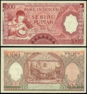 Indonesia 1000 RUPIAH 1958 P 61 UNC - Indonesia
