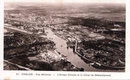 Vietnam CHOLON Vue Aerienne L'Arroyo Chinois Et Le Canal De Dedoublement 1920? - Vietnam