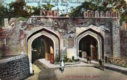 Delhi The Cashmere Gate 1908 Orig.Frankierung Indien One Anna - Indien