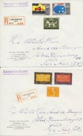 2 Mooie Brieven Met Aantekenstrookje 's-Gravenhage - Period 1949-1980 (Juliana)