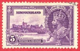 Newfoundland #  227 - 5 Cents - O - Dated  1935 - Silver Jubilee Issue /  Émission Du Jubilé D'Argent - Newfoundland