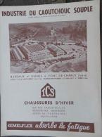 CAOUTCHOUC: Catalogue Ets ICS Chaussures PONT-DE-CHéRUY (Isère) - Advertising