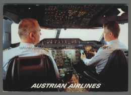 T4741 AVIAZIONE AUSTRIAN AIRLINES CABINA DI COMANDO PILOTI VG (m) - 1946-....: Moderne