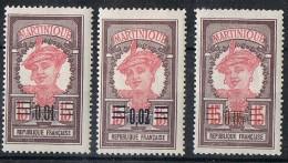 MARTINIQUE  N* 86  87  88  TB - Martinique (1886-1947)