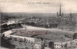 76 - ROUEN - Vue Générale  - 2 Scans - Dos Cachet Commissaire Militaire - écrite 1918 - - Rouen