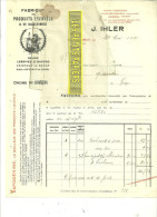 70 - Haute-saône - ARC-LES-GRAY - Facture IHLER - Fabrique De Lessive SAPOGENINE – 1921 - REF 15 - 1900 – 1949
