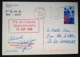 MISSILES Du PLATEAU D'ALBION CP Fin De L'Alerte Opérationnelle 16 Sep 1996 Démantèlement - Military Postmarks From 1900 (out Of Wars Periods)