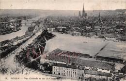 76 - ROUEN - Vue Génerale Et Vue Du Champs De Mars  - écrite 1918 - - Rouen