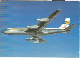 LUFTHANSA, BOEING JET 720 B, COLORI  1965, NEW JORK - BOLOGNA, - 1946-....: Moderne