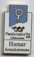 Pin's JO Olympique Olympic Paralympique Paralympics 1994 Lillihammer Hamar - Juegos Olímpicos