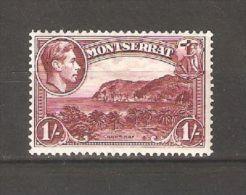 Montserrat 1938 ,Carr's Bay ,1sh KG VI ,Perf.13 ,Sc 99a ,VF MLH* OG (A-1) - Montserrat