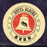 Hotel Glocke, Bern, Switzerland, Stick On Luggage Label - Etiketten Van Hotels