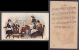 SINGER SEWING MACHINES, Collector / Advertising Card / Users Around The World LERWICK, SHETLAND, 1890s - Creative Hobbies