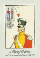 Ciskei 1983 Military Uniforms, 1st Warkshire Regiment, Maximum Card - Ciskei