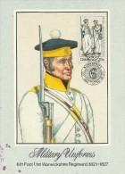 Ciskei 1983 Military Uniforms, 6th Foot 1st Warkshire Regiment, Maximum Card - Ciskei