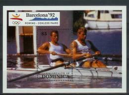 Mua857 SPORT OLYMPISCHE SPELEN ROEIEN OLYMPIC GAMES BARCELONA ROWING COXLESS PAIRS RUDERN DOMINICA 1990 PF/MNH - Zomer 1992: Barcelona