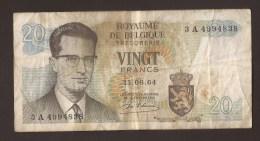 België Belgique Belgium 15 06 1964 20 Francs Atomium Baudouin. 3 A 4994838 - [ 6] Treasury