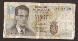 België Belgique Belgium 15 06 1964 20 Francs Atomium Baudouin. 3 A 7887260 - 20 Francs