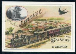 25  MONCEY   ......  TRAIN  ..souvenir Au Fusain Creation Moderne Série Limitée Et Numerotée 1 à 10 ... N° 2/10 - Other Municipalities