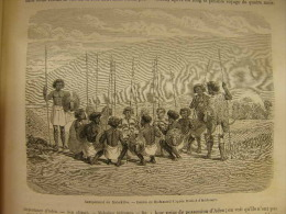 Abyssinie -Somalia  Eritrea - Yemen  --Danakiles - Afar - Ethiopia Danakil  Henri Lambert   -engraving 1862 TdM1862.137 - Estampas & Grabados