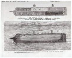 Gravure 1863 Nouveau Sous Marin Américain - Ohne Zuordnung