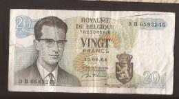 België Belgique Belgium 15 06 1964 20 Francs Atomium Baudouin. 3 B 6583245 - 20 Francs