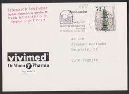 """Berlin 50 Pf Historische Straßenpumpen Lauchhammerpumpe MWSt. """"150 Jahre Deutsche Eisenbahnen"""" Nürnberg - Berlin (West)"""