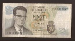 België Belgique Belgium 15 06 1964 20 Francs Atomium Baudouin. 3 B 8213327 - [ 6] Treasury