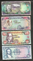 [NC] JAMAICA - BANK Of JAMAICA - 10 / 20 / 50 / 100 DOLLARS - LOT Of 4 DIFFERENT BANKNOTES - Giamaica
