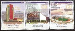 2007 México University City, UNESCO Cultural Heritage, Education SET 3 Stamps MNH  Scott # 2548 - Mexico
