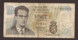 België Belgique Belgium 15 06 1964 20 Francs Atomium Baudouin. 3 C 0583019 - 20 Francs