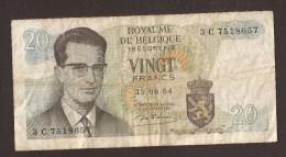 België Belgique Belgium 15 06 1964 20 Francs Atomium Baudouin. 3 C 7518657 - 20 Francs