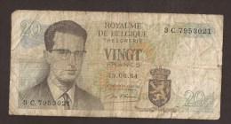 België Belgique Belgium 15 06 1964 20 Francs Atomium Baudouin. 3 C 7953021 - [ 6] Treasury