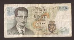België Belgique Belgium 15 06 1964 20 Francs Atomium Baudouin. 3 C 9385820 - [ 6] Tesoreria
