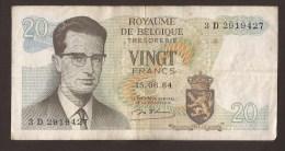 België Belgique Belgium 15 06 1964 20 Francs Atomium Baudouin. 3 D 2919427 - [ 6] Trésorerie