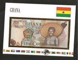 [NC] GHANA - BANK Of GHANA - 5 CEDIS (1977) - UNC - Ghana