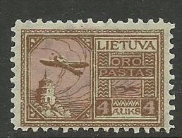 LITAUEN Lietuva Lithuania 1922 Flugpost Air Mail Michel 122 * - Lithuania