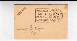 OCEANIE - 1932 - RARE BANDE JOURNAL Avec MARQUE PORT PAYE En LOCAL De PAPEETE (DAGUIN) - Océanie (Établissement De L') (1892-1958)
