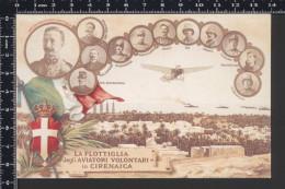RIPRODUZIONE - La Flottiglia Degli Aviatori Volontari In Cirenaica - Non Viaggiata §§ - Militari