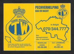 TW - TOURING WEGENHULP - Pechverhelping Dag En Nacht  (S 1817) - Stickers