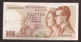 België 50 Frank 14-5- 1966 -NO: 1194 D 3813 - 50 Francs