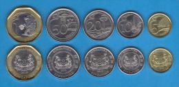 SINGAPUR  Set/Tira 5 Monedas/Coins 2.013 2013  SC/UNC  T-DL-10.600 - Singapur