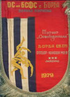 W197 / SPORT - Wrestling Lutte Ringen 1979 V. TARNOVO - 21.5 X 30 Cm. Wimpel Fanion Flag Bulgaria Bulgarie Bulgarien - Lucha