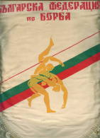 W200 / SPORT - FEDERATION  Wrestling Lutte Ringen  - 26 X 32.5 Cm. Wimpel Fanion Flag Bulgaria Bulgarie Bulgarien - Ringen